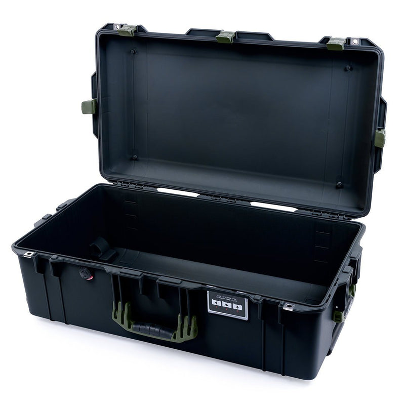 Pelican 1615 Air Case, Black with OD Green Handles & Latches - Pelican Color Case