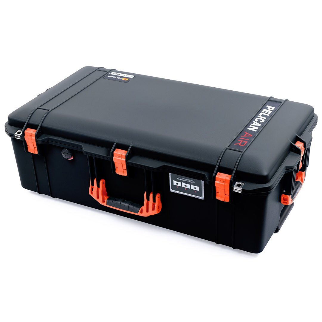 Pelican 1615 Air Case, Black with Orange Handles & Latches - Pelican Color Case
