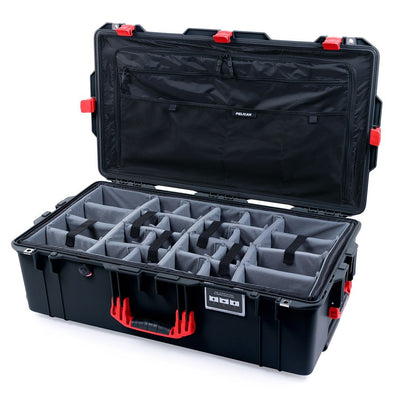 Pelican 1615 Air Case, Black with Red Handles & Latches - Pelican Color Case