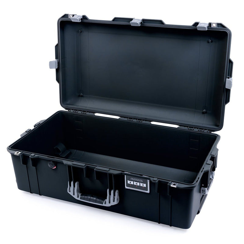 Pelican 1615 Air Case, Black with Silver Handles & Latches - Pelican Color Case