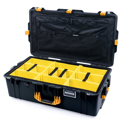 Pelican 1615 Air Case, Black with Yellow Handles & Latches - Pelican Color Case