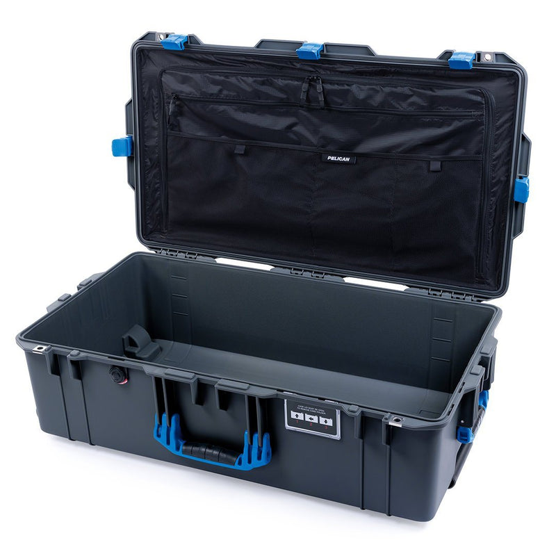 Pelican 1615 Air Case, Charcoal with Blue Handles & Latches