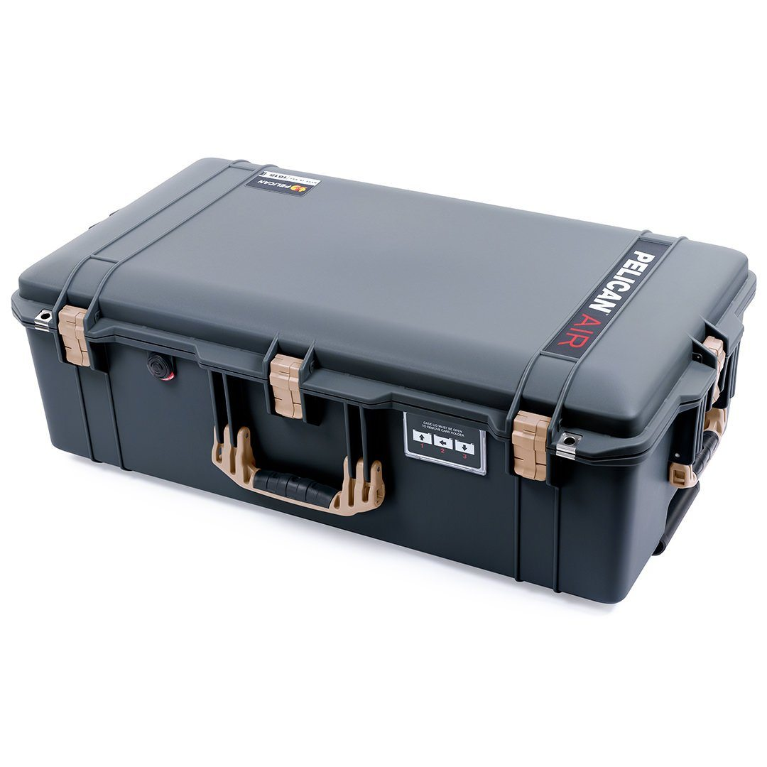 Pelican 1615 Air Case, Charcoal with Desert Tan Handles & Latches