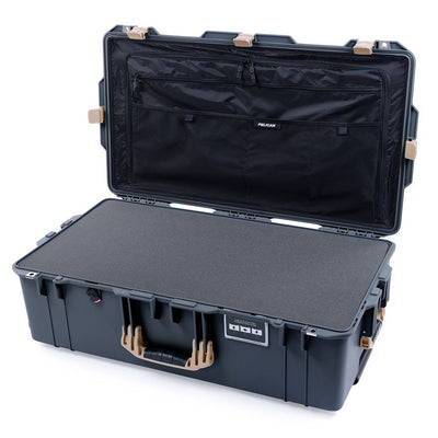 Pelican 1615 Air Case, Charcoal with Desert Tan Handles & Latches - Pelican Color Case