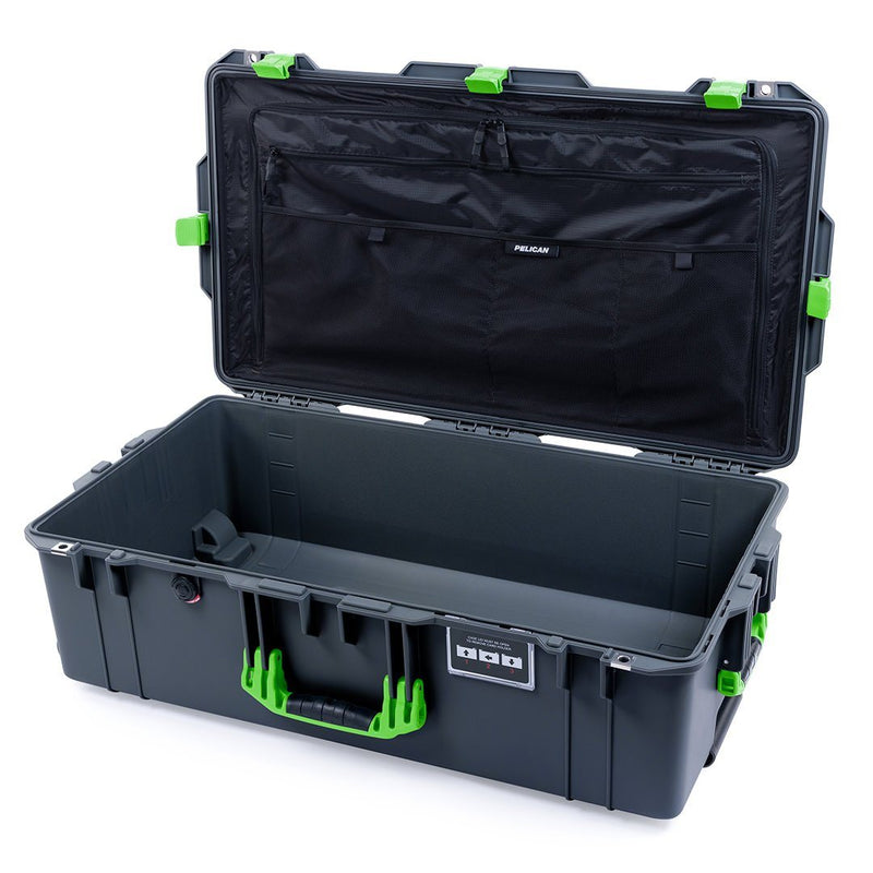 Pelican 1615 Air Case, Charcoal with Lime Green Handles & Latches