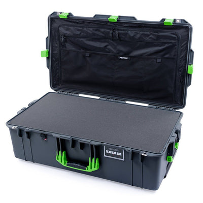 Pelican 1615 Air Case, Charcoal with Lime Green Handles & Latches - Pelican Color Case
