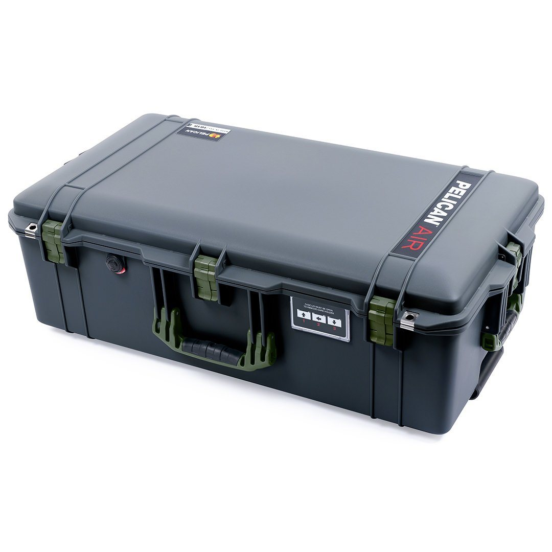 Pelican 1615 Air Case, Charcoal with OD Green Handles & Latches