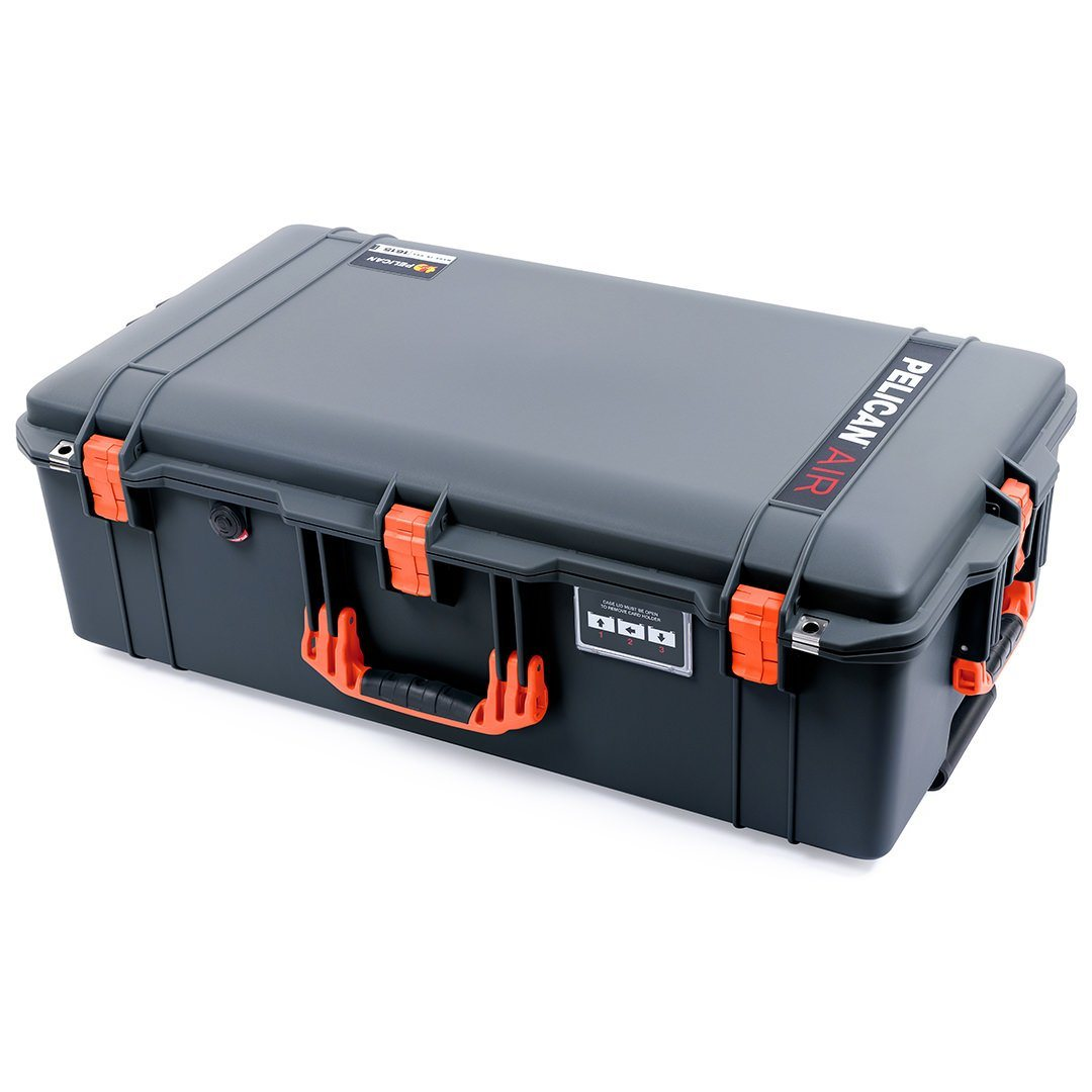 Pelican 1615 Air Case, Charcoal with Orange Handles & Latches
