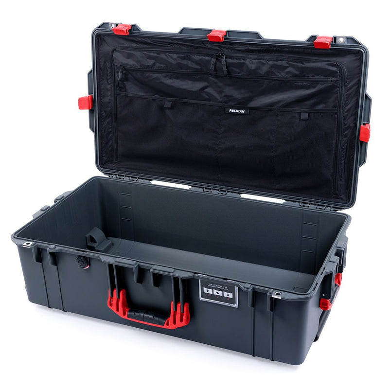 Pelican 1615 Air Case, Charcoal with Red Handles & Latches