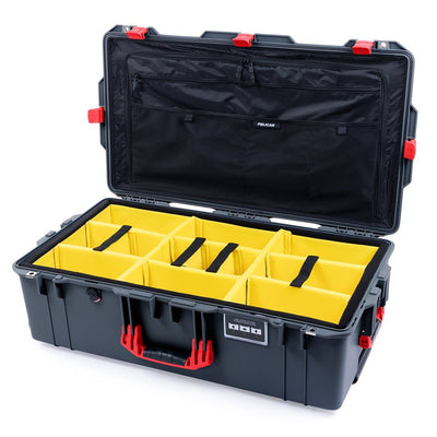 Pelican 1615 Air Case, Charcoal with Red Handles & Latches - Pelican Color Case