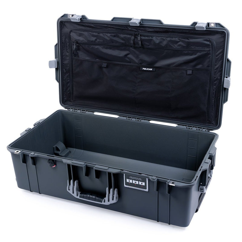Pelican 1615 Air Case, Charcoal with Silver Handles & Latches