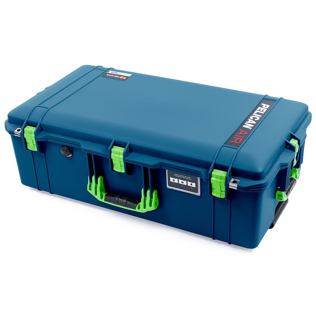 Pelican 1615 Air Case, Indigo with Lime Green Handles & Latches
