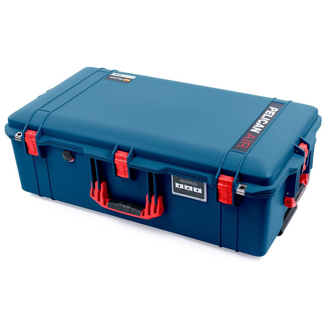 Pelican 1615 Air Case, Indigo with Red Handles & Latches