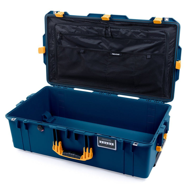 Pelican 1615 Air Case, Indigo with Yellow Handles & Latches