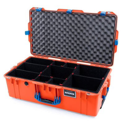 Pelican 1615 Air Case, Orange with Blue Handles & Latches - Pelican Color Case