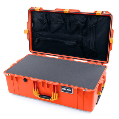 Pelican 1615 Air Case, Orange with Yellow Handles & Latches - Pelican Color Case