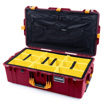 Pelican 1615 Air Case, Oxblood with Yellow Handles & Latches - Pelican Color Case