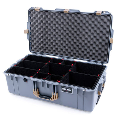 Pelican 1615 Air Case, Silver with Desert Tan Handles & Latches - Pelican Color Case