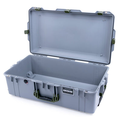 Pelican 1615 Air Case, Silver with OD Green Handles & Latches - Pelican Color Case