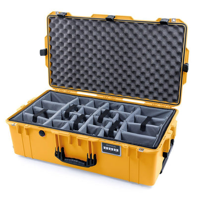 Pelican 1615 Air Case, Yellow with Black Handles & Latches - Pelican Color Case