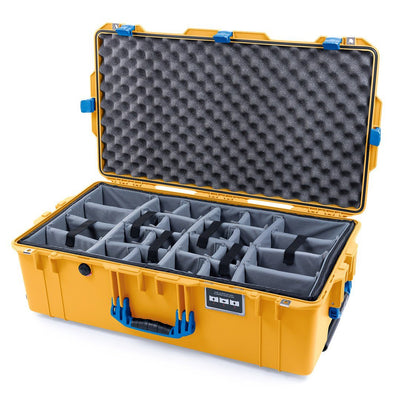 Pelican 1615 Air Case, Yellow with Blue Handles & Latches - Pelican Color Case