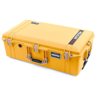 Pelican 1615 Air Case, Yellow with Desert Tan Handles & Latches - Pelican Color Case