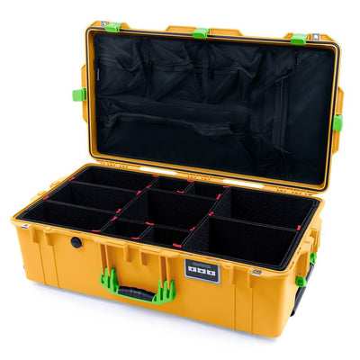 Pelican 1615 Air Case, Yellow with Lime Green Handles & Latches - Pelican Color Case