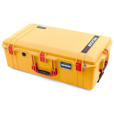 Pelican 1615 Air Case, Yellow with Red Handles & Latches - Pelican Color Case