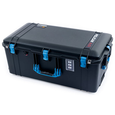Pelican 1626 Air Case, Black with Blue Handles & Latches - Pelican Color Case