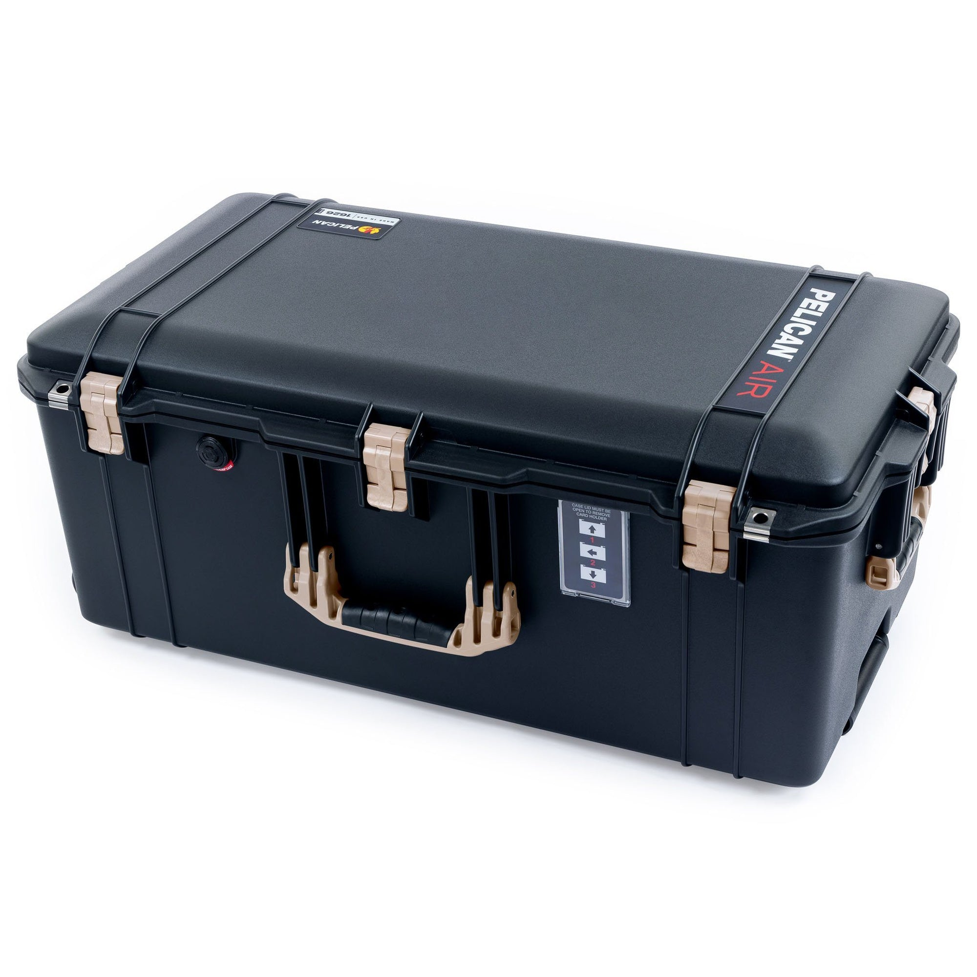 Pelican 1626 Air Case, Black with Desert Tan Handles & Latches - Pelican Color Case