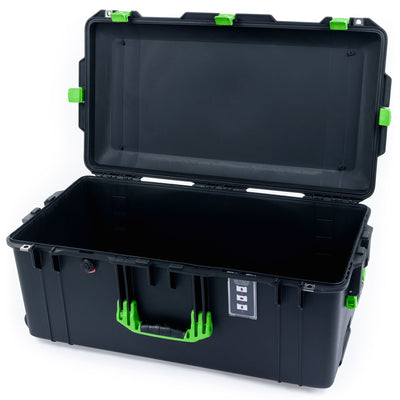 Pelican 1626 Air Case, Black with Lime Green Handles & Latches - Pelican Color Case