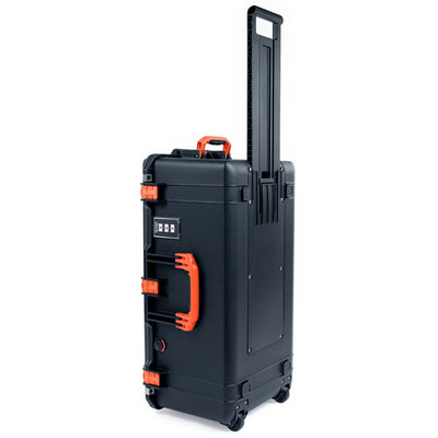 Pelican 1626 Air Case, Black with Orange Handles & Latches - Pelican Color Case