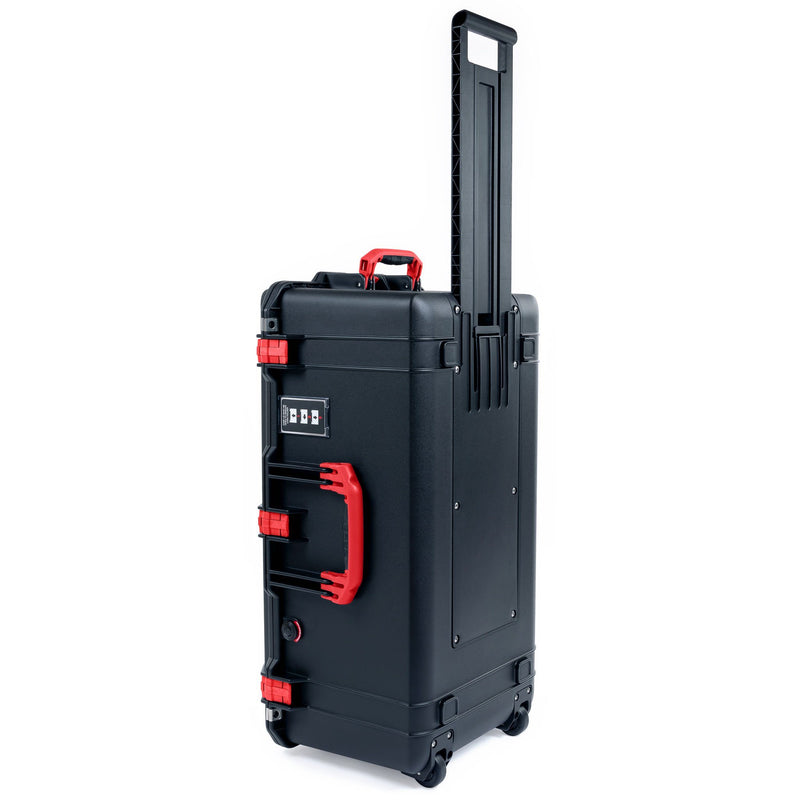 Pelican 1626 Air Case, Black with Red Handles & Latches - Pelican Color Case
