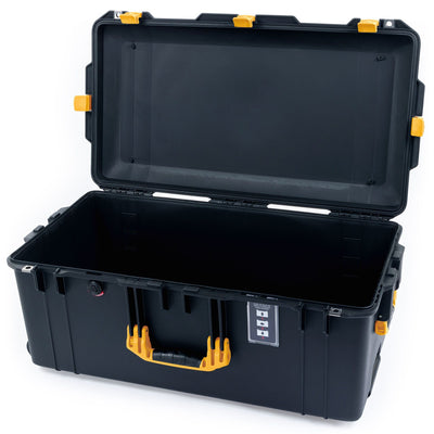 Pelican 1626 Air Case, Black with Yellow Handles & Latches - Pelican Color Case