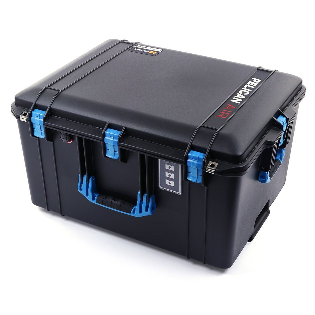 Pelican 1637 Air Case, Black with Blue Handles & Latches