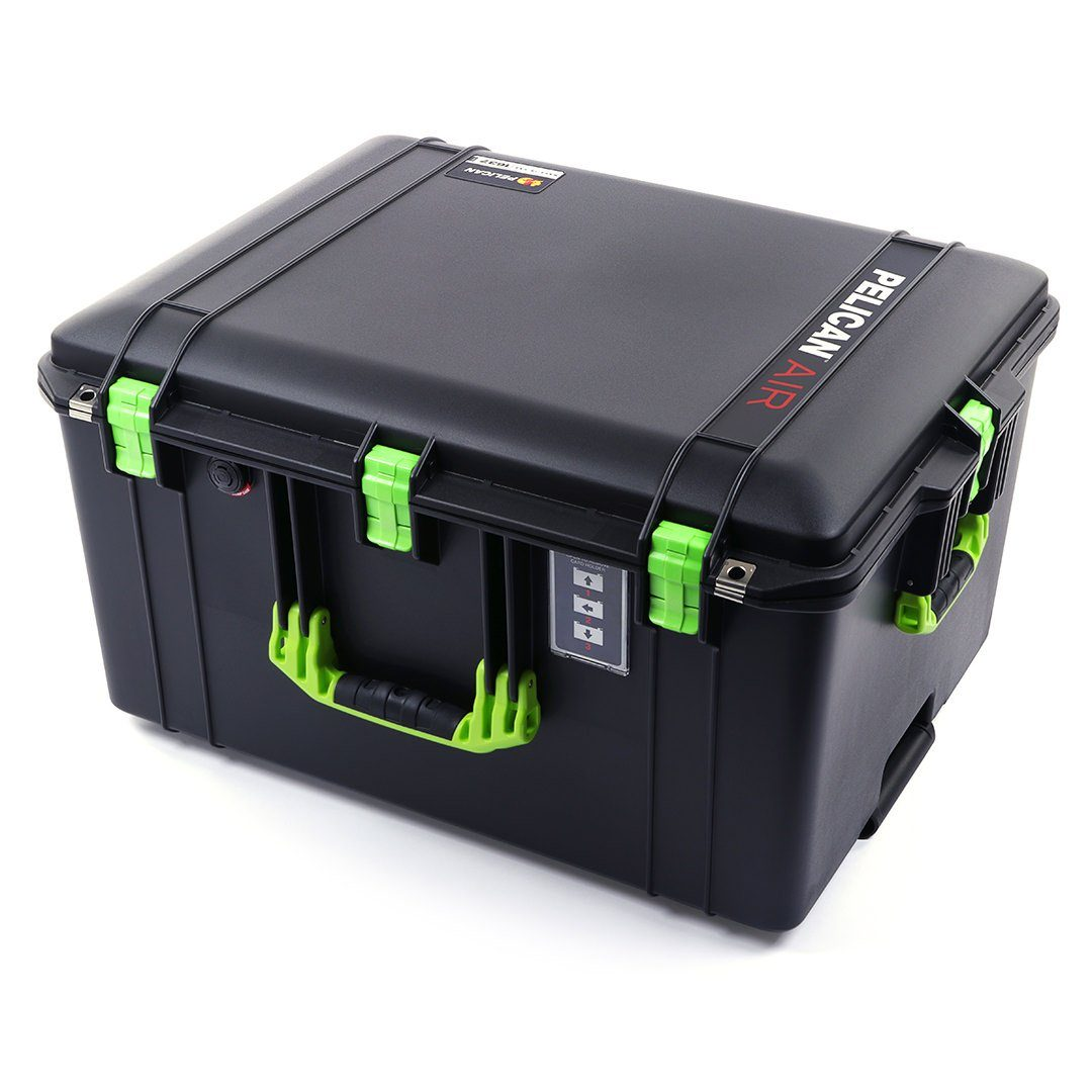 Pelican 1637 Air Case, Black with Lime Green Handles & Latches