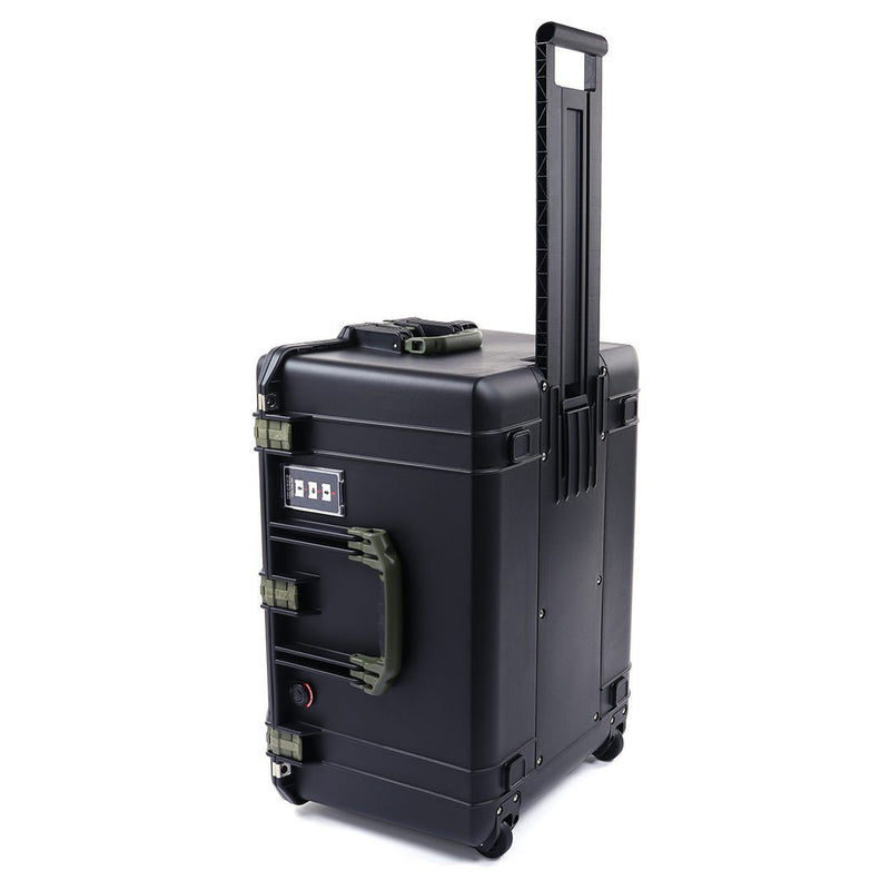 Pelican 1637 Air Case, Black with OD Green Handles & Latches
