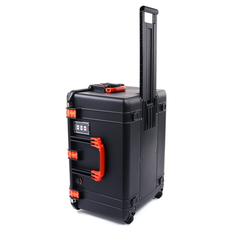 Pelican 1637 Air Case, Black with Orange Handles & Latches - Pelican Color Case