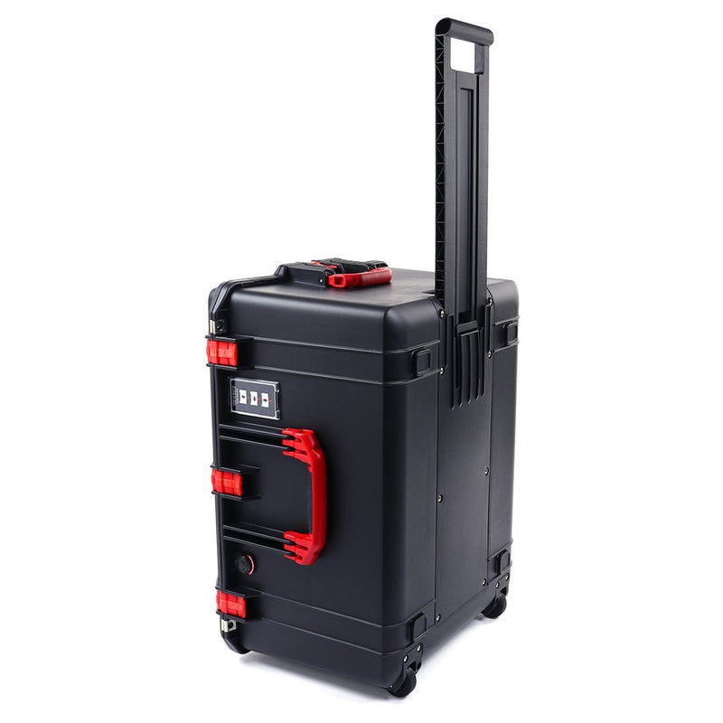 Pelican 1637 Air Case, Black with Red Handles & Latches - Pelican Color Case