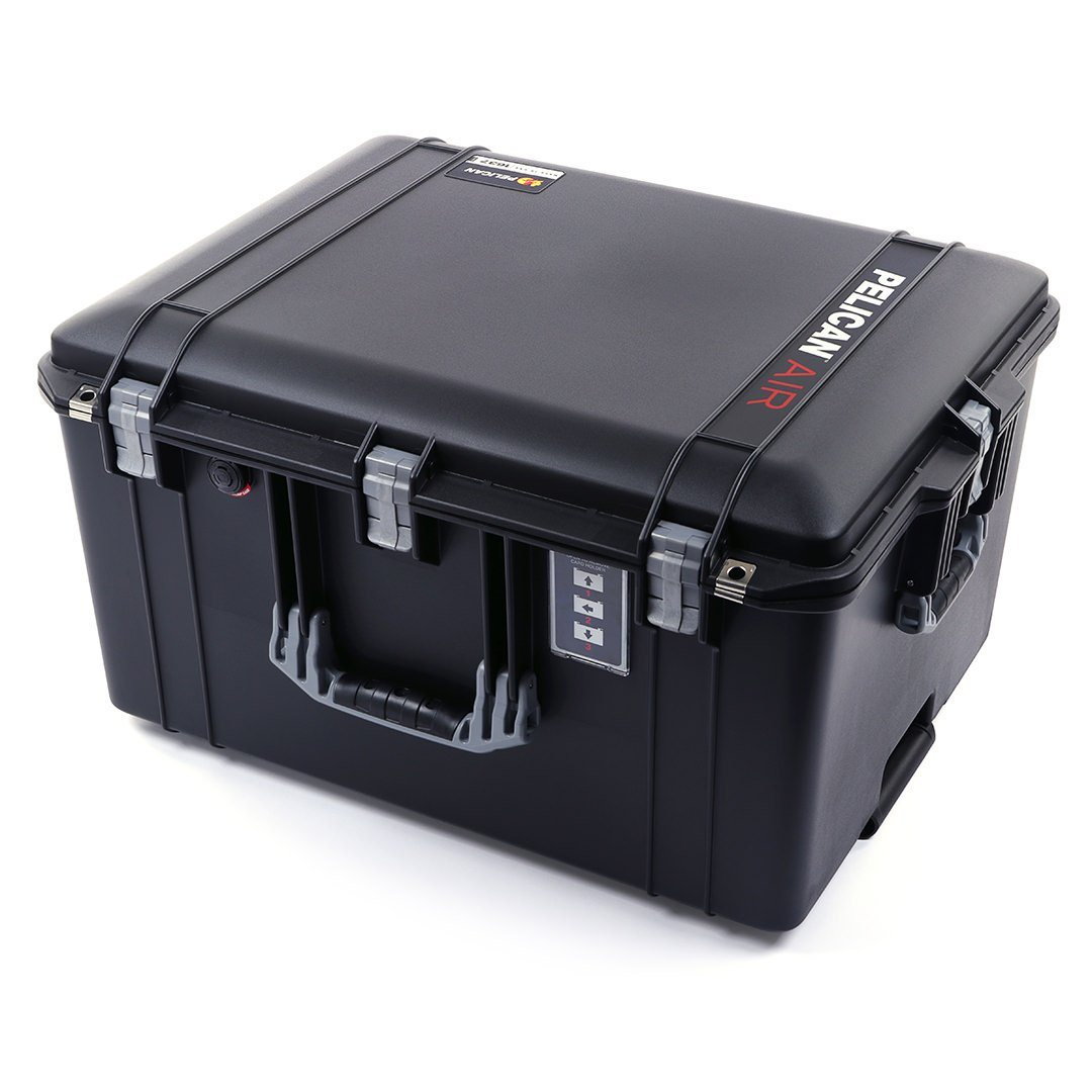 Pelican 1637 Air Case, Black with Silver Handles & Latches - Pelican Color Case