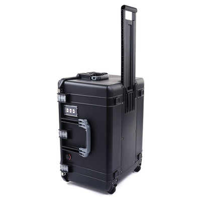Pelican 1637 Air Colors Series, Black Rolling Air Case with Silver Gray Handles & Latches, Customizable Accessory Bundles