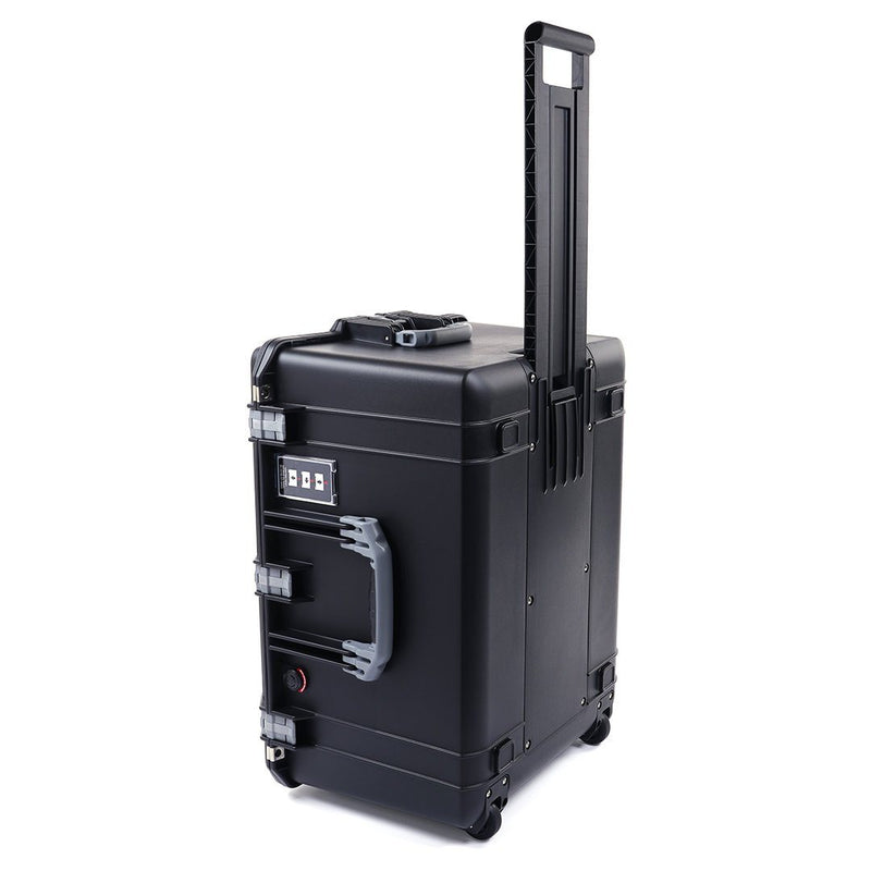 Pelican 1637 Air Case, Black with Silver Handles & Latches