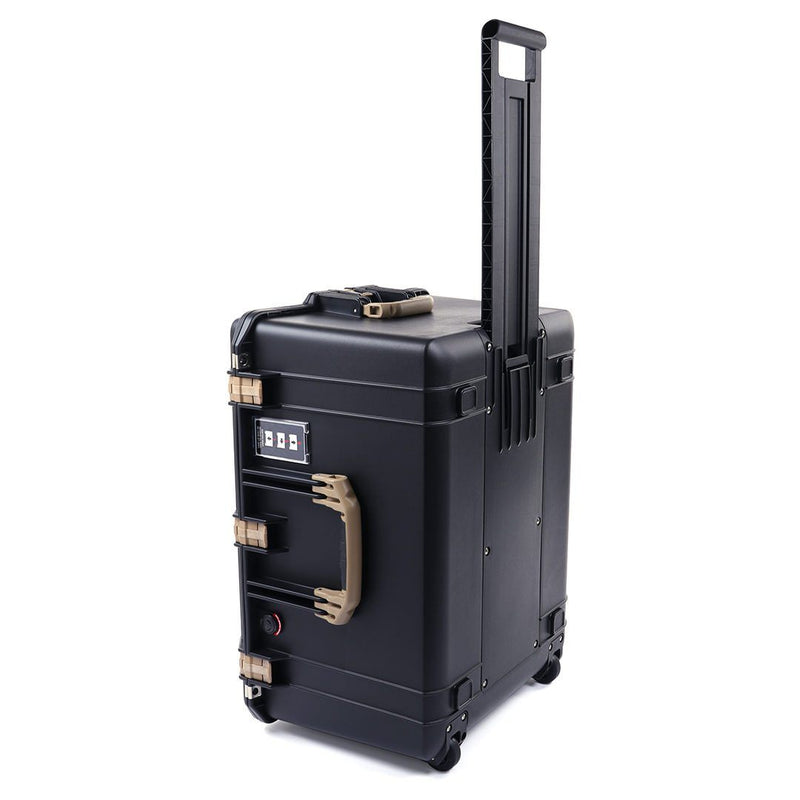 Pelican 1637 Air Case, Black with Desert Tan Handles & Latches - Pelican Color Case