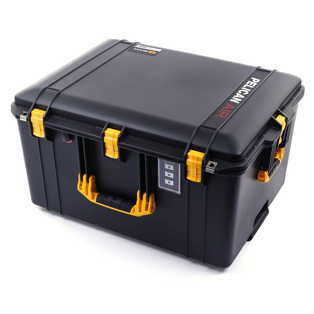 Pelican 1637 Air Case, Black with Yellow Handles & Latches