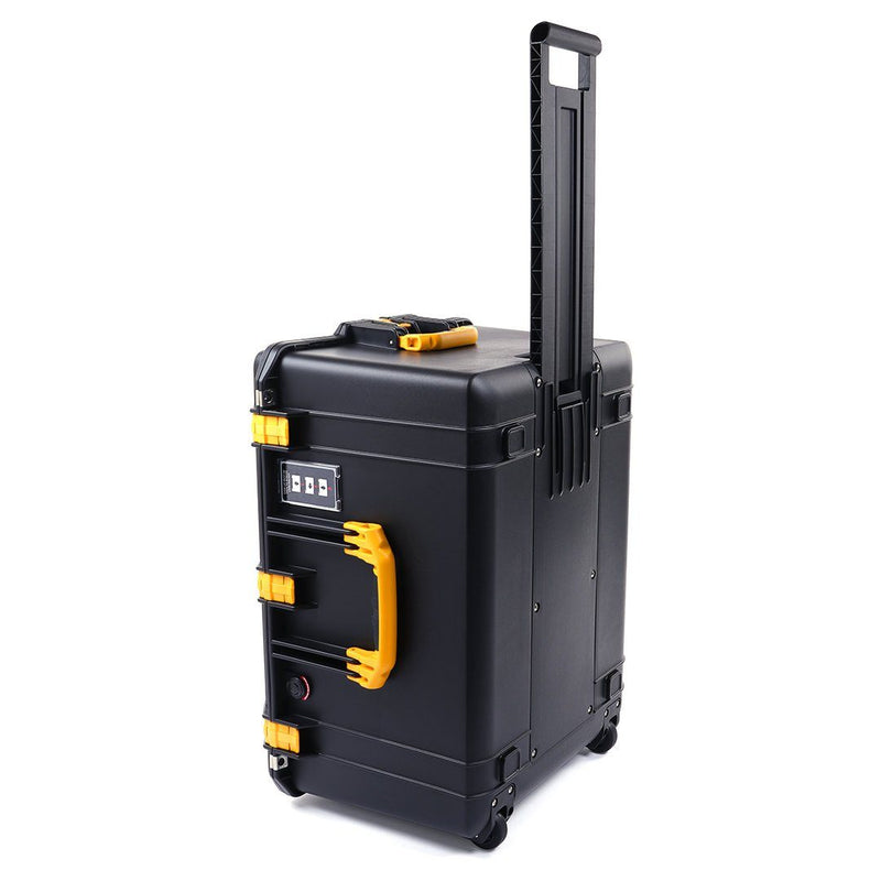 Pelican 1637 Air Case, Black with Yellow Handles & Latches - Pelican Color Case