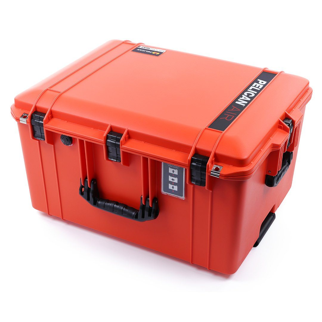 Pelican 1637 Air Case, Orange with Black Handles & Latches - Pelican Color Case
