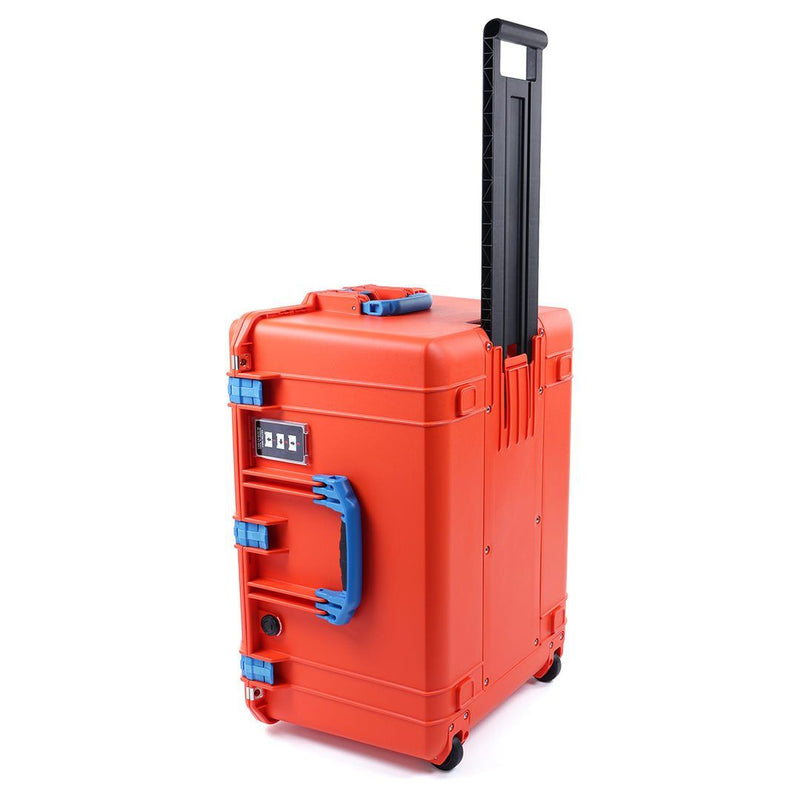 Pelican 1637 Air Case, Orange with Blue Handles & Latches - Pelican Color Case