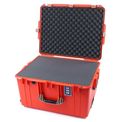 Pelican 1637 Air Case, Orange with Desert Tan Handles & Latches - Pelican Color Case