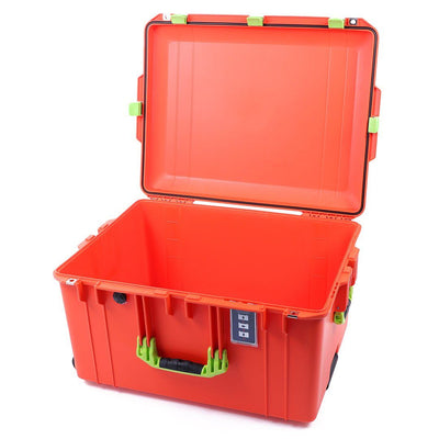 Pelican 1637 Air Case, Orange with Lime Green Handles & Latches - Pelican Color Case