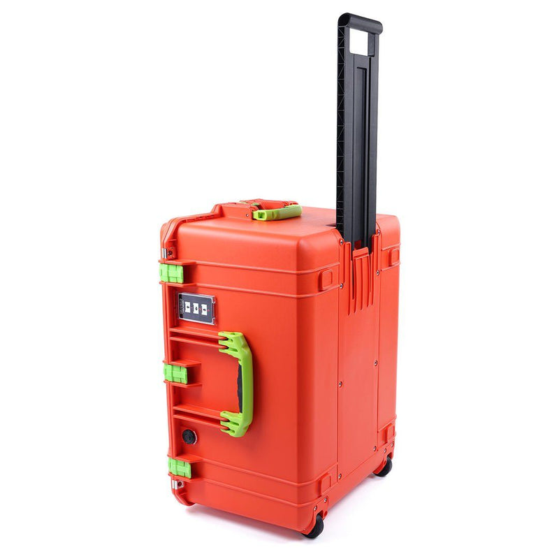 Pelican 1637 Air Colors Series, Orange Rolling Air Case with Lime Green Handles & Latches, Customizable Accessory Bundles